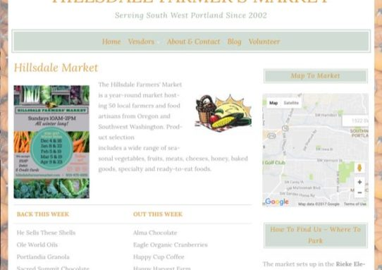 Hillsdale Farmer's Market